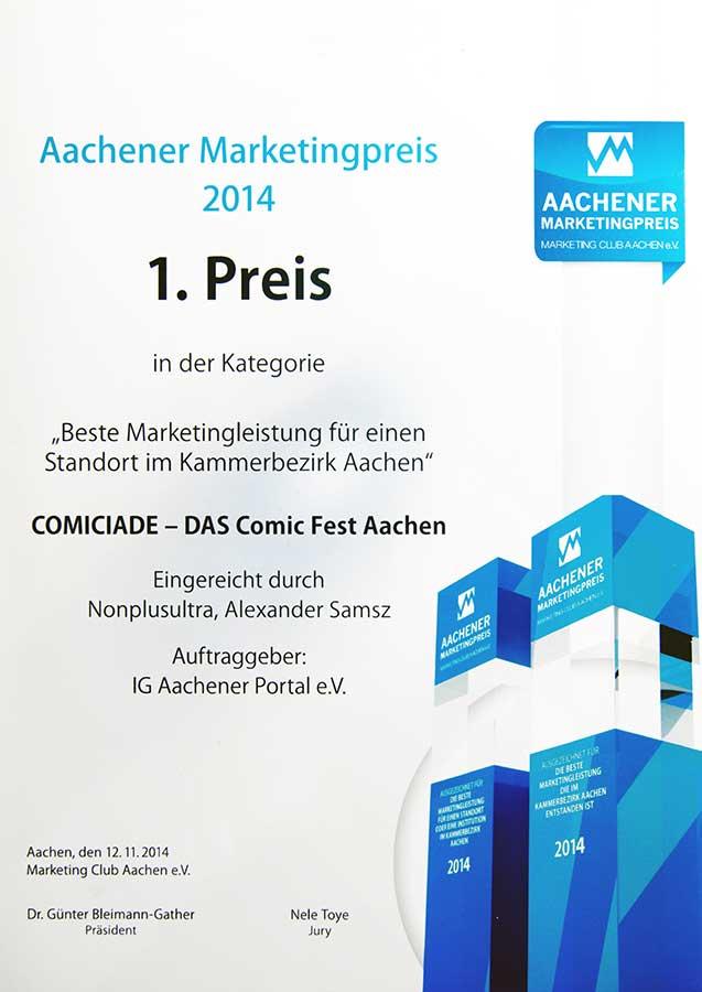 Marketing Preis 2014 für Werbeagentur Aachen nonplusultra
