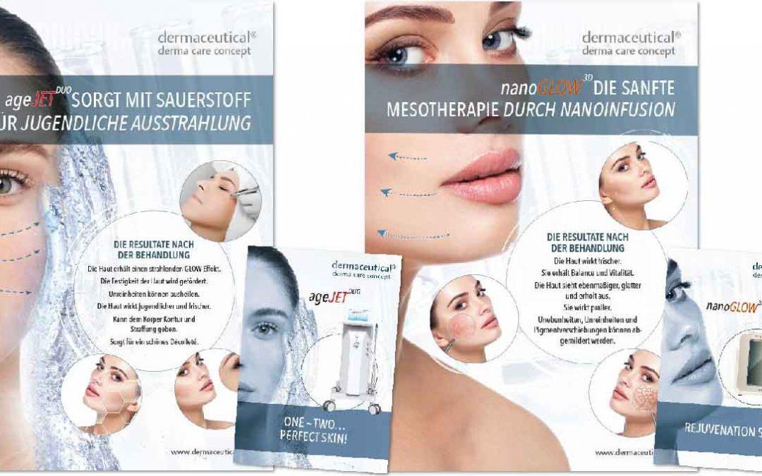 Poster und Prospekte dermaceutical